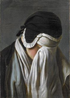 P.A. Rotari / portrait of young girl hiding her eyes, 18th c