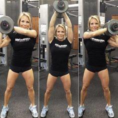 Shoulder-to-Shoulder Dumbbell Press - full body workout for muscle mass @bbadvisor