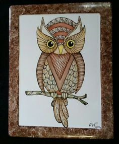 Check out this item in my Etsy shop https://www.etsy.com/listing/286052321/hand-painted-art-deco-style-owl-plaque