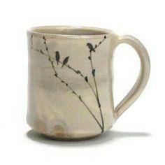 birds ceramic art mug click the image or link for more info. Thrown Pottery, Pottery Mugs, Ceramic Pottery, Pottery Designs, Mug Designs, Ceramic Cups, Ceramic Art, Clay Studio, Clay Mugs
