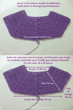 Como tejer un saco, campera, cardigan o chambrita a crochet o ganchillo desde el This will work to start some of the dresses with no patterns. Pull Crochet, Gilet Crochet, Crochet Yoke, Crochet Diagram, Crochet Cardigan, Crochet Stitches, Crochet Patterns, Crochet Jacket, Crochet Ideas