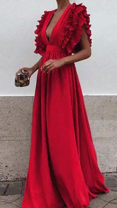 Elegant maxi dress - Unique V Neck Backless Chiffon Evening Prom Dresses, Cheap Custom Sweet 16 Dresses, 18497 – Elegant maxi dress Sweet 16 Dresses, Pretty Dresses, Beautiful Dresses, Cheap Bridesmaid Dresses, Cheap Dresses, Formal Dresses, Dresses Dresses, Long Dresses, Dresses Online