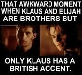 I'm just in love with Klaus. Like Damon from TVD makes that show, klaus makes the originals. My heart belongs to Damon first and then Joseph :) Vampire Diaries Memes, Vampire Diaries Damon, Vampire Daries, Vampire Diaries Wallpaper, Vampire Diaries The Originals, Vampire Books, Funny Quotes, Funny Memes, Memes Humor