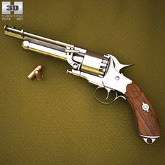 LeMat Revolver Model in Pistol Weapons Guns, Guns And Ammo, Smith And Wesson Revolvers, Revolver Pistol, Gun Holster, Holsters, Military Guns, Weapon Concept Art, Hunting Rifles