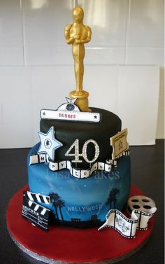 A cake I made for a Hollywood themed birthday party ;)