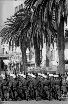 Legionnaires march through the streets of Corte, Corsica. After the murder of two shepherds, angry Corsicans have protested and in some cases assaulted members of the Foreign Legion. Get premium, high resolution news photos at Getty Images French Foreign Legion, Monaco, Corsica, Military History, All Over The World, Paris, Street, Military Personnel, France