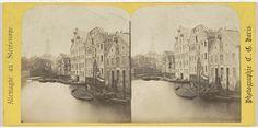Charles Gerard | Hambourg (ville libre), Vue sur le canal Bleichen et eglise catholique, Charles Gerard, 1860 - 1870 |