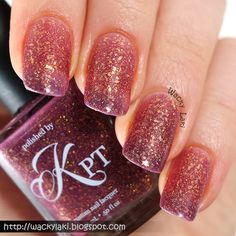 Amazing thermal (purple to gold) swatched by Wacky Laki: Polished by KPT Paris & Me Collection Swatches and Review