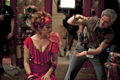 Isla Fisher and Baz Luhrmann on-set of The Great Gatsby (2013)