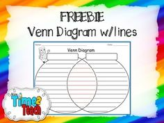 Have you ever wanted a large Venn Diagram with lines on it for your students to write on?   I SURE HAVE!!!!!!  After several instances of searching for such a Venn, I decided to create my own and share it with my loyal followers... that's you!  I hope you are able to use this resource in your classroom and find it to be as resourceful as I have.