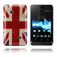 This er United Kingdom grunge patterned case shined in gloss for din Sony Xperia Tipo. Union Jack, Sony Xperia, Samsung, Iphone, Beauty