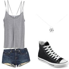 Untitled #57 by sophia-solzbacher on Polyvore featuring polyvore Mode style Cami NYC rag & bone/JEAN Converse Tiffany & Co.