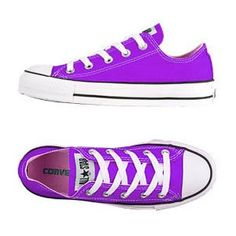 Red Converse Ox - I've got these and I wear them during the summer. Cool Converse, Purple Converse, Outfits With Converse, Converse Sneakers, Converse All Star, Red Chucks, Converse Classic, Purple Sneakers, Ankle Boots