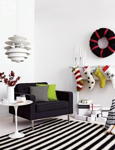 Modern Holiday Living Room
