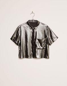 Metallic shirt - Sequins & metallics - Bershka Ukraine