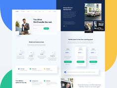 Upshift — homepage 🚙 carsharing startup website web product minimal layout landing page homepage clean green blue Squeeze Page, Best Landing Pages, Homepage Design, Web Design Trends, Design Web, Graphic Design, Dashboard Design, Web Layout, Layout Design