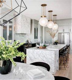 Interior design kitchen contemporary and luxury kitchen design companies. Art Deco Kitchen, Home Decor Kitchen, Interior Design Kitchen, Decorating Kitchen, Diy Kitchen, Kitchen Ideas, Interior Decorating, Luxury Kitchens, Cool Kitchens