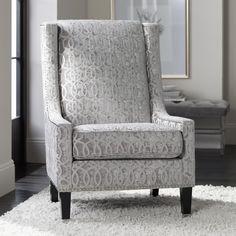 Natalie Morgan Operetta Dove Fabric Accent Chair