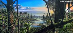 Evidence for a rainforest near the South Pole, in Antarctica. Researchers have found unexpected fossil traces of a temperate rainforest near… Polo Sul, Prehistoric World, Pine Island, Les Continents, Soil Layers, Climate Change, New Zealand, Planting Flowers, Earth Science
