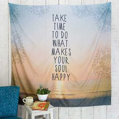 Tapestries - Tapestries are so fun and versatile!! Our super-soft tapestry is brightly designed with sweet sentiments and a finished edge making it perfect for walls, beds or picnic and beach days!!
