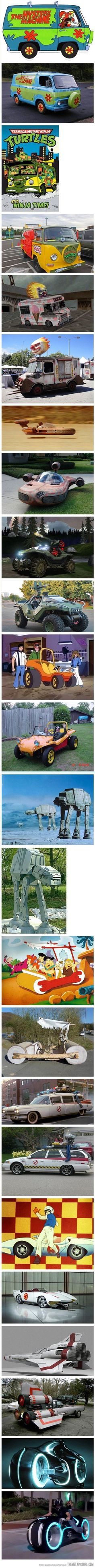 Awesome fictional vehicles in real life…