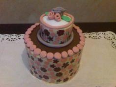 Two Tiers Love Chocolate Cake