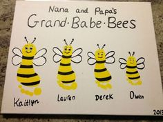 Here are the easy 9 grandparents day crafts and ideas for kids. Grandparent's day crafts include cards and gifts that make the grandparents happy and loved. Grandparents Day Crafts, Grandparent Gifts, Grandma Crafts, Kids Mothers Day Craft, Cute Crafts, Crafts To Do, Diy Crafts, Baby Footprints, Butterfly Footprints