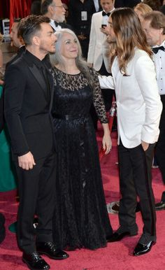 Shannon, Constance and Jared Leto. The Leto family.The Oscars, 2014.