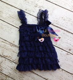 Navy dress newborn dress Lace dress baby by MyLilSweetieBoutique, $24.95