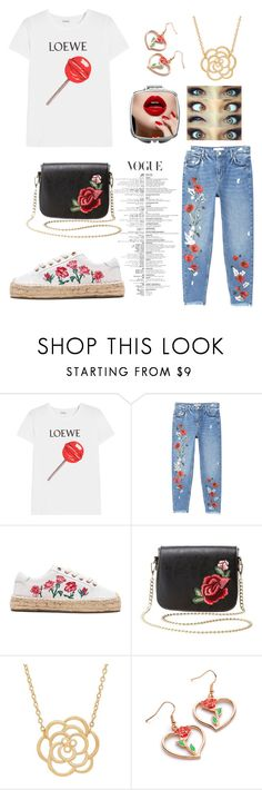 """""""Rose"""" by nekonerdforever ❤ liked on Polyvore featuring Loewe, MANGO, Soludos, Charlotte Russe and Lord & Taylor"""