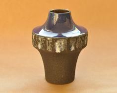 Carstens Tönnieshof vase - Heinz Siery - Blue, white black lava - West German pottery - fat lava - UFO - 1253-17