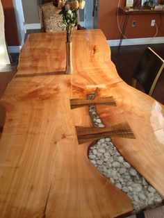 live edge dining table Natural Edge and Live Edge Wood Slabs, Burls, and Bases can be found at www.BerkshireProducts.com