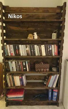 Bookcase, Shelves, Pallets, Home Decor, Shelving, Decoration Home, Room Decor, Book Shelves, Shelving Units
