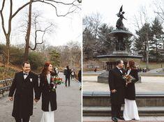 Lauren & Russ Bow Bridge Elopement Central Park Weddings, Cold Day, Bridge, Bows, Pretty, Bowties, Bow, Ribbon, Bro