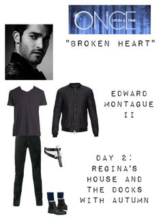 """""""OUAT - S5E10: """"Broken Heart"""" - Edward Montague II"""" by nerdbucket ❤ liked on Polyvore featuring Yves Saint Laurent, John Varvatos, Vince, SELECTED, men's fashion and menswear"""