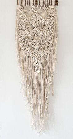 Etsy の Ancestral Weave by AncestralStore Macrame Wall Hanging Patterns, Macrame Patterns, Hanging Tapestry, String Crafts, Yarn Crafts, Art Macramé, Macrame Owl, Card Weaving, Macrame Plant Holder