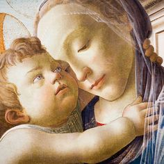 Sandro Botticelli - Virgin and Child with an Angel: detail - at Art Institute of Chicago, by Thomas Hawk
