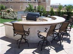 Half Cicrle, Bar Outdoor Kitchens The Green Scene Northridge, ...