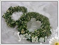 Věneček zelený malý - 5 cm - Svatba dekor