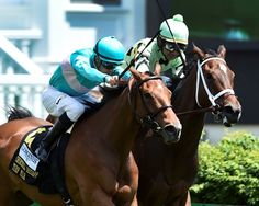 Roca Rojo and Believe in Bertie thrilled the Derby Day crowd at Churchill Downs with a stirring stretch battle in the Churchill Distaff Turf Mile, won by a nose by Roca Rojo. 5/6/17