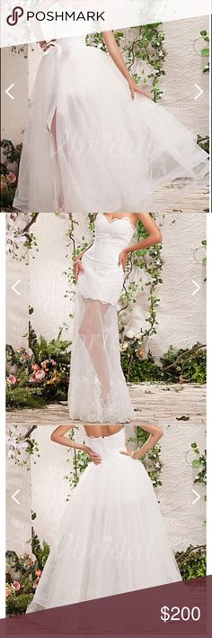 wedding dress NEW with tags A-Line Princess, Strapless, Sweetheart detachable satin ,Tulle wedding dress with lace bow(s) Dresses Wedding
