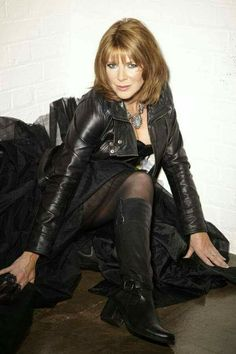leather it up Ruth Langsford, Tv Girls, Tv Presenters, Photos Of Women, Nicole Kidman, Celebs, Celebrities, Leather Fashion, Women's Fashion