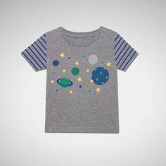 Popper Neck T Shirt