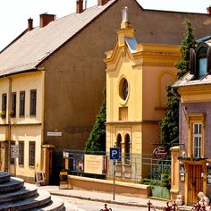 Side view of the former Status Quo Ante Synagogue in Eger, Heves County, Hungary.  It is now used as a art gallery.