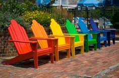 Rainbow Adirondack Chairs