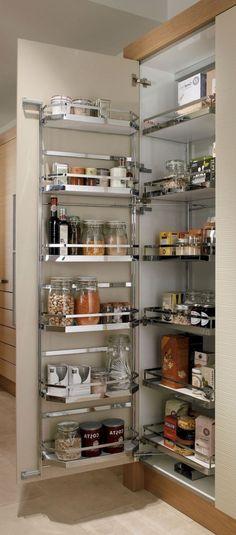 Smart Kitchen Storage Ideas - Page 6 of 51 Utensil Drawer Organization, Kitchen Cupboard Organization, Kitchen Pantry Design, Cupboard Storage, Kitchen Cupboards, Kitchen Layout, Interior Design Kitchen, Kitchen Storage, Kitchen Dresser