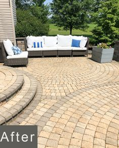 How to Remove Mildew and Mold from Paver Patio and Concrete Surfaces Cement Pavers, Concrete, Outdoor Spaces, Outdoor Living, Outdoor Decor, Cleaning Pavers, Bleach Uses, Weed Killer, Pressure Washing