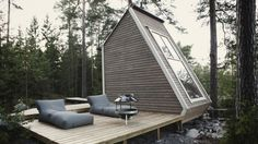 Designer Robin Falck has created his very own micro home that is small enough to be built without a permit in Finland.