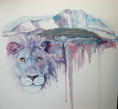 Patty Marshall, painter, sculptor, collage artist.  This was inspired by her African safari.