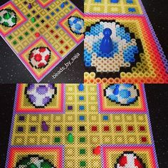 Yoshi's egg ludo board game perler beads by beads_by_saja